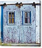 Painty Flakey Garage Doors Canvas Print