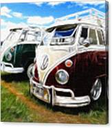 Pair Of Busses Canvas Print
