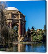 Palace Of Fine Arts In Color Canvas Print