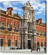 Palace Of San Telmo In Seville Canvas Print