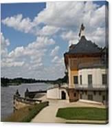 Palace Pillnitz And River Elbe Canvas Print