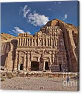 Palace Tomb In Nabataean Ancient Town Petra Canvas Print