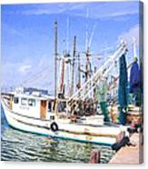 Palacios Texas Shrimp Boat Lineup Canvas Print