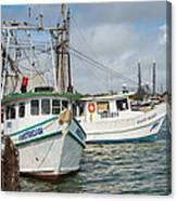Palacios Texas Two Boats In View Canvas Print