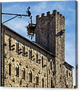 Palazzo Pretorio And The Tower Of Little Pig Canvas Print