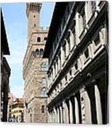 Palazzo Vecchio And Uffizien Canvas Print