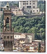Palazzo Vecchio Tower And Forte Belvedere Canvas Print