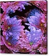 Pale Moon Flower Orb Canvas Print