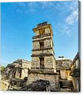 Palenque Palace Tower Canvas Print