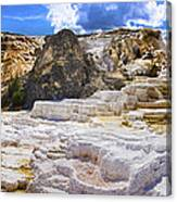 Palette Spring Terrace Panorama - Yellowstone National Park Wyoming Canvas Print