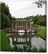 Palladian Bridge At Prior Park Landscape Garden Canvas Print