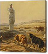 Pallas Athena And The Herdsmans Dogs Canvas Print