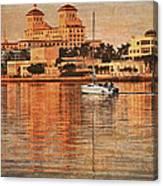 Palm Beach At Golden Hour Canvas Print