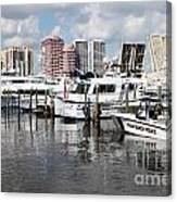 Palm Beach Docks Canvas Print