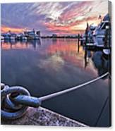 Palm Beach Harbor Canvas Print