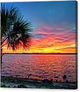 Palm Beach Sunset Canvas Print