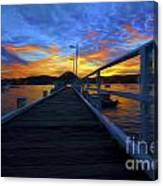 Palm Beach Wharf At Sunset Canvas Print