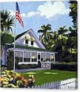 Palm Cottage Naples Florida Canvas Print