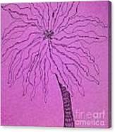 Palm Purple Canvas Print