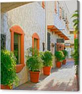Palm Springs Courtyard Canvas Print