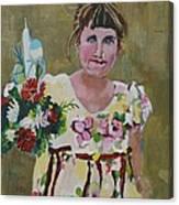 Palm Sunday Palestinian Girl Canvas Print