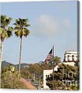 Palm Tree Flag Canvas Print