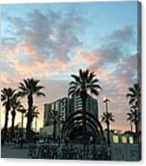 Palm Trees And Bikes At Noho Canvas Print