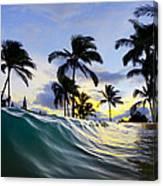 Palm Wave Canvas Print