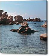 Palombaggia Beach And Rocks, Corsica Canvas Print