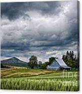 Palouse Farm And Steptoe Butte Canvas Print