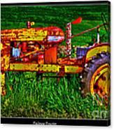 Palouse Tractor Canvas Print