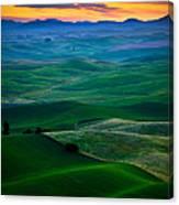 Palouse Velvet Canvas Print