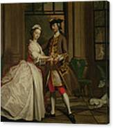 Pamela And Mr B. In The Summerhouse Canvas Print