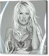 Pamela Anderson - Angel Rays Of Light Canvas Print