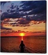 Pamlico Sound Hatteras Island Sunset 3 5/10 Canvas Print