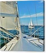Pamlico Sound Sailing 52 4/14 Canvas Print