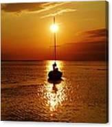 Pamlico Sound Sunset 2 7/26 Canvas Print