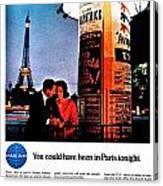 Pan Am To Paris Canvas Print