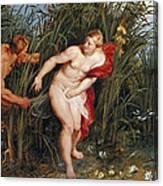 Pan And Syrinx Canvas Print