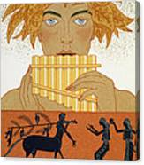 Pan Piper Canvas Print