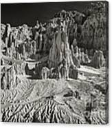 Panaca Sandstone Formations In Black And White Nevada Landscape Canvas Print