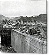 Panama Canal Construction 1910 Canvas Print
