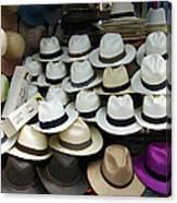 Panama Hats In Ecuador Canvas Print