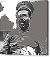 Pancho Villa  Portrait In Military Uniform No Location Or Date-2013 Canvas Print