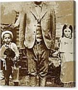 Pancho Villa  Portrait With Children No Location Or Date-2013 Canvas Print