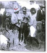 Pancho Villa With Children #1  Durango C. Canvas Print