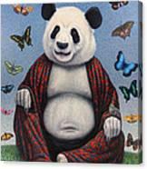 Panda Buddha Canvas Print