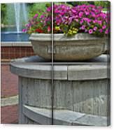 Sample Paneled Concrete Flower Pot Canvas Print