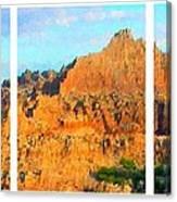 Panels Of A Canyon Canvas Print