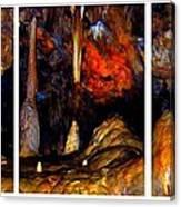 Panels Of A Cave Canvas Print